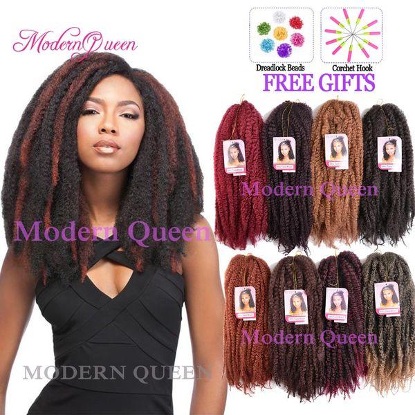 Afro Kinky Curly Twist Marley Braid Hair Extension 18inch 100g Kinky Crochet Hair Braids Synthetic Hair Extensions Kanekalon Twist Braiding
