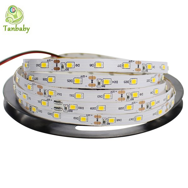 Wholesale-Tanbaby led strip SMD 3528 DC12V 60 LED/M flexible 2835 Rope Non-waterproof indoor decortion string light 5M/reel