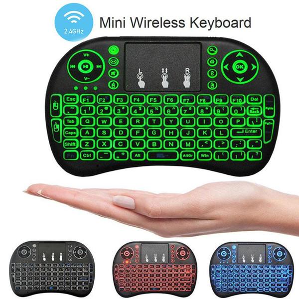 Air Mouse Combo 2.4G Mini i8 Wireless Keyboard, Touchpad combo con adattatore di interfaccia per PC Pad Google Andriod TV Box Xbox360 PS3 (OTG)