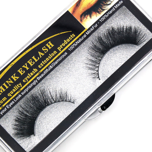 Hot!Handmade False Eyelashes Mink Natural Realistic Messy End Of Eye Elongated Thick False Eyelashes False Eyelashes Mink Eyelash