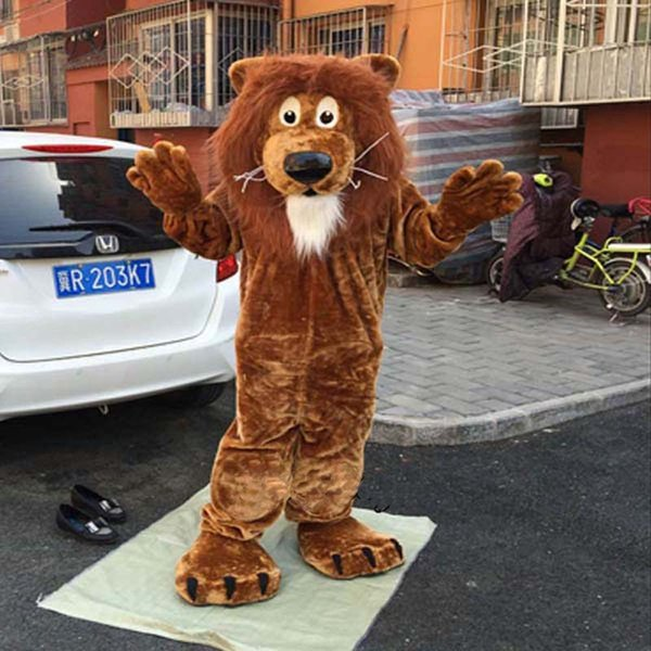 Cute Deluxe Lion Mascot Costume Fancy Birthday Party Dress Halloween Carnivals Costumes With High Quality For Adult