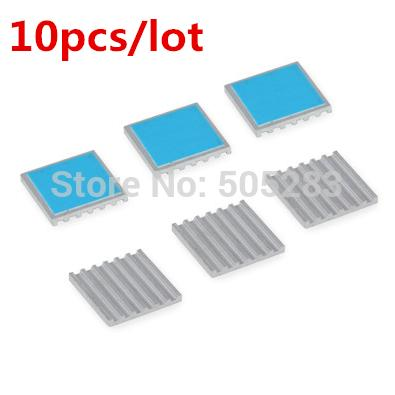Wholesale- 10pcs 17*17*2mm Computer Cooling Fin Radiator Aluminum Heatsink Heat sink for Electronic Heat dissipation Cooling Pads HY317*10