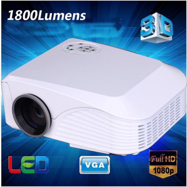 Großhandels-neuer heißer Miniprojektor CN908 bester Videoprojektor der beweglichen Spg.Versorgungsteil-Energie 1080p, Projektor 3d, voller hd 3d führte Projektor