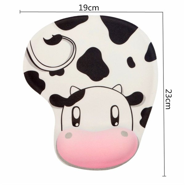 top popular Cute Cartoon Cow Squirrel Mouse Pad With Wrist Rest Creative Silicone Fabric Wrist Protector Skidproof Mouse Mat for Work Game 2020