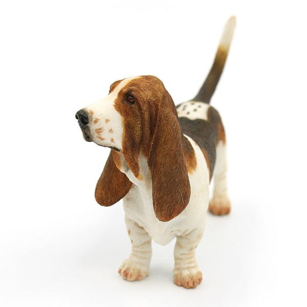 Basset Hound Figürchen - stehende Welpen-Skulptur 6 Zoll heiße Verkaufs-Welpen-Figürchenspitzensammlung für Hundeliebhaber