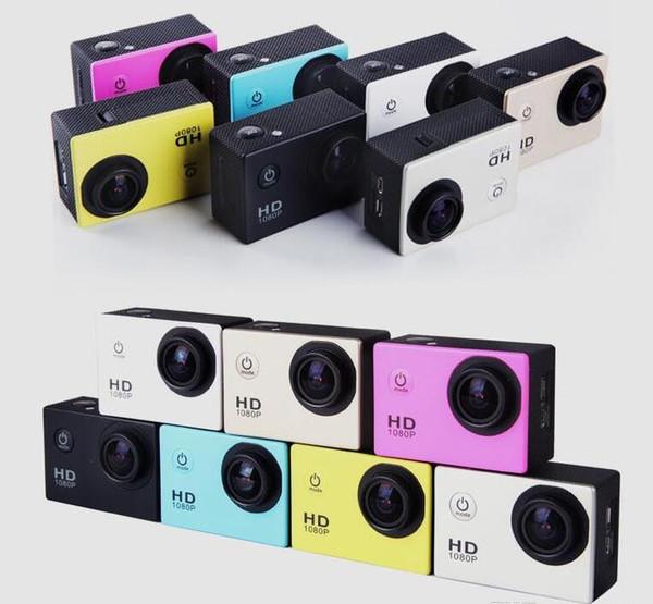 50PCS nuevo 1080P Full HD Action Digital Sport Camera 2 pulgadas de pantalla bajo impermeable 30M DV grabación Mini Sking Bicycle Photo Video Cam