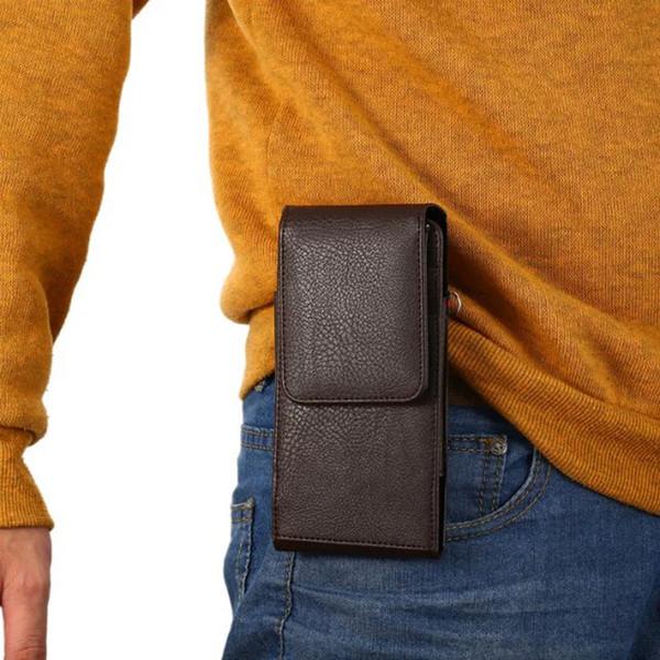 Étui portefeuille en cuir universel Flip Wallet Case pour iPhone 7 Samsung S8 Plus LG G5 pour Xiaomi Redmi Note 3 taille sacs