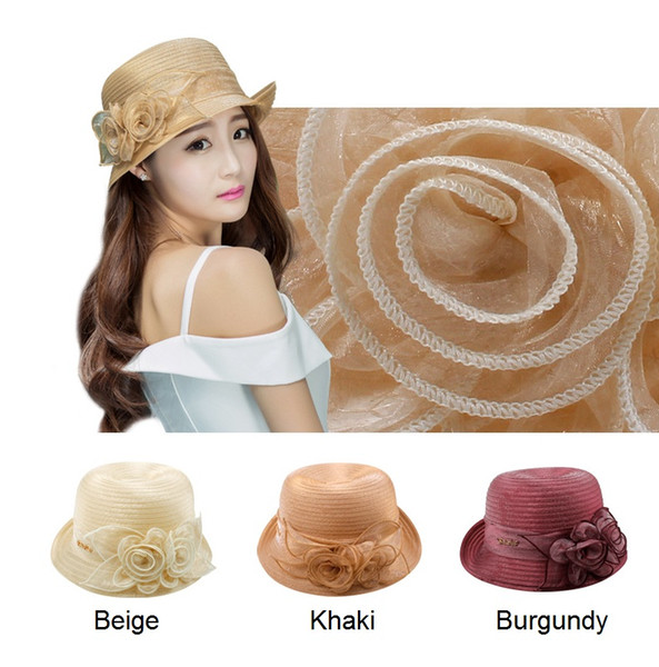 floppy plaj şapka kilise şapka takılı şapka güneş şapkaları nargile çiçekleri cimri ağzına kadar plaj şapka bayanlar ve kadınlar için