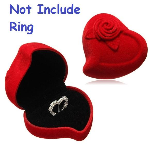Free Shipping Bride Groom Red Velvet Heart Flower Rose Double