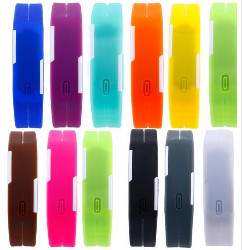 top popular Fast Colorful Waterproof Soft Led Touch Watch Jelly Candy Silicone Rubber Digital Screen Bracelet Watches Men Women Unisex Sports Wristwatch 2019