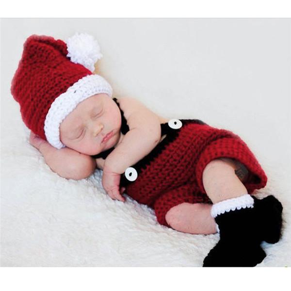 Handmade Bebê Fotografia Props Traje Gorros De Malha Chapéu Crochet Chapéus com Calças Calças Conjunto Tampas Acessórios 2019 BP023