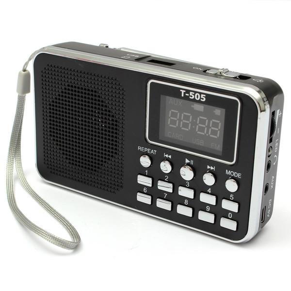 Wholesale-NEW Excellent Quality Universal Home Stereo Speaker Mini Portable Radio TF Card Speaker FM Radio Digital Speaker with LED Screen