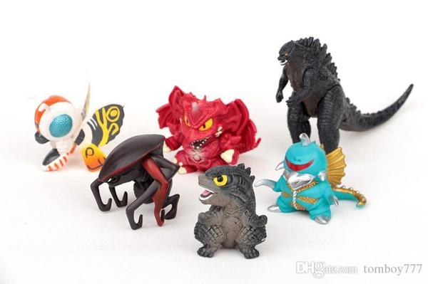 Figurines jouets 6pcs / set 5cm godzilla Action Figure modèle jouets cadeau de Noël pour les enfants
