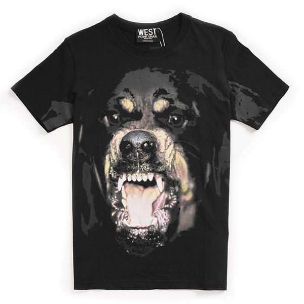 Heißer Verkauf Neuheit 3D Großen Hund Print Casual Contton Frauen Männer t-shirt Sommer Street Hip Hop Boy Tops Tees Kleidung