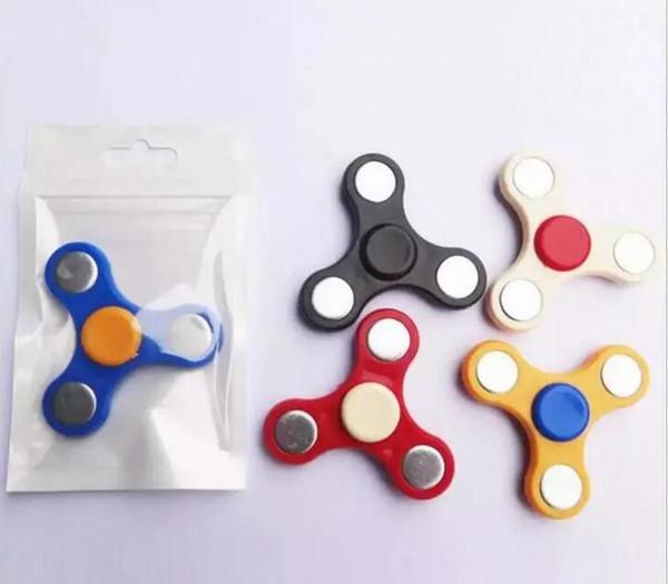 best selling 5000Pcs HandSpinner Fingertips Spiral Fingers Fidget Tri Spinner EDC Hand Spinner Acrylic Plastic Fidgets Toys Gyro Toys With OPP Bag Cheap
