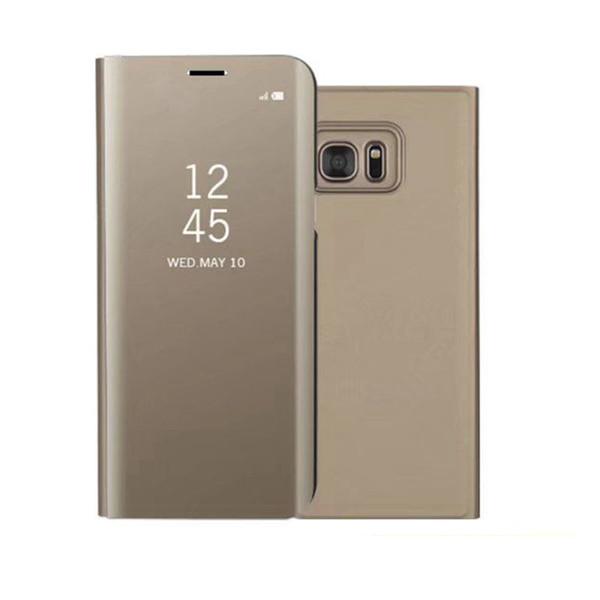 Custodia Clear Mirror di lusso per Samsung Galaxy S6 Edge Plus S7 Edge S8 plus Nota 5 Nota 8 Copertura del telefono Placcatura Base Stand verticale