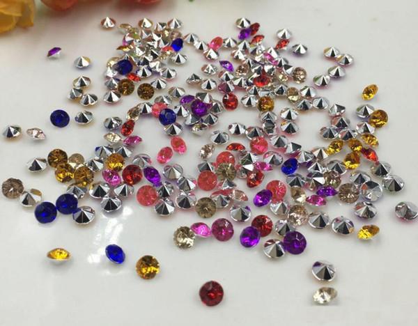 10000 pcs 4mm Mixte Acrylique Diamant Confetti Table De Fête De Mariage Scatters Cristal Décoration