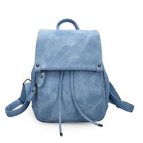 top popular Classic 2017 Fashion Women's Backpack Bag School Bag Handbags Shoulder Purse Top Quality Free Shipping J110 2020