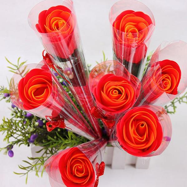 vente en gros / box bouquet rose savon fleur romantique savon À
