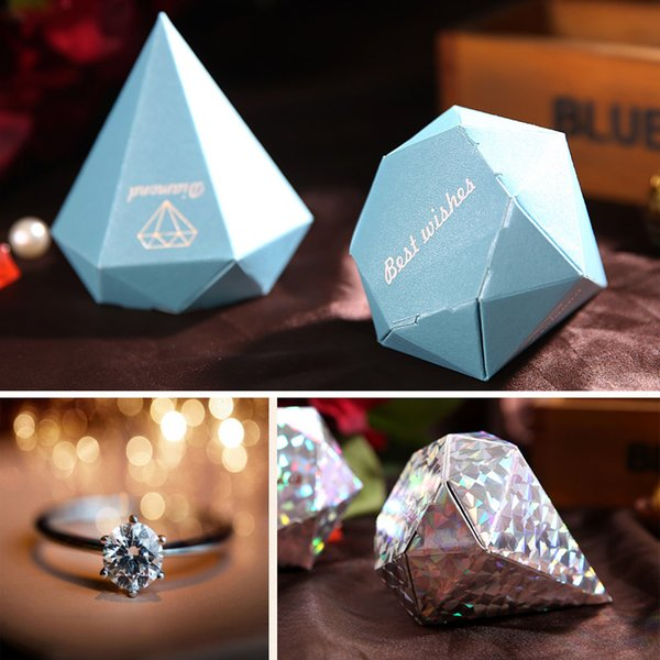 Diamond Shaped Wedding Favor Boxes Gift Jewelry Candy Diy Paper Box Wedding Party Supplies Multi Colors Cone Shaped Favor Boxes Cupcake Wedding Favor