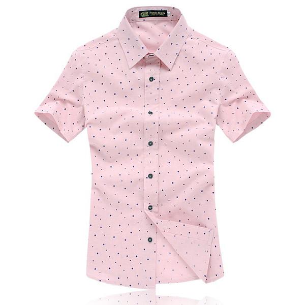 Wholesale- Hot sale summer style men short sleeve shirt casual dress shirts camisa masculina 3 colors M XXL 3XL 4XL 5XL JPCY50