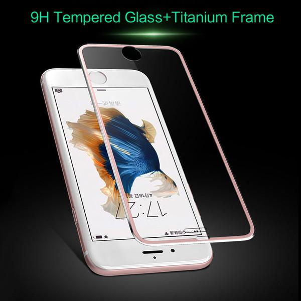3D Kavisli Tam kaplı Titanyum alaşımlı Kenar Temperli cam ekran koruyucu perakende kutusu ile evrensel smartphone Için