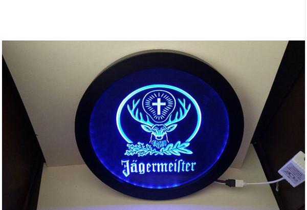 B-10 Jagermeister cervo cabeça RGB led MultiColor controle sem fio cerveja bar clube pub sinal de luz de néon presente especial