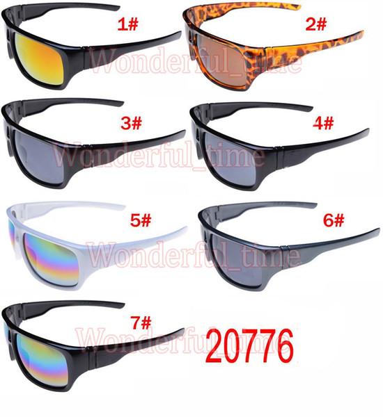 Marque de nouveaux hommes sports lunettes de soleil de mode lunettes de soleil femmes lunettes Cyclisme Sports Lunettes de soleil en plein air couleurs éblouissantes 7 couleurs livraison gratuite
