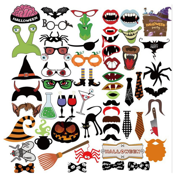 2017 New Funny Masks Photo Booth Props with Lips Moustaches glasses and Sticks Party Halloween Decorations Prop Free Shipping