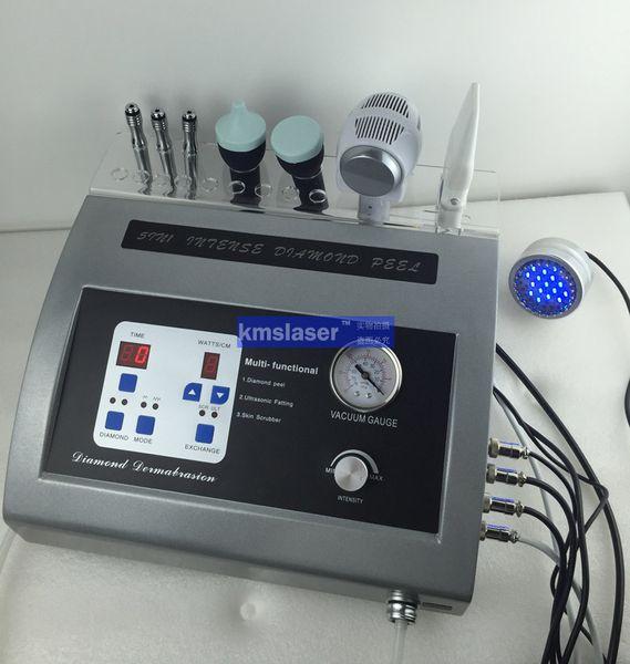New arrival 5 in 1 Fast shipping DIAMOND MICRODERMABRASION Facial Ultrasonic Ultrasound Skin Scrubber crystal Dermabrasion Peeling Machine