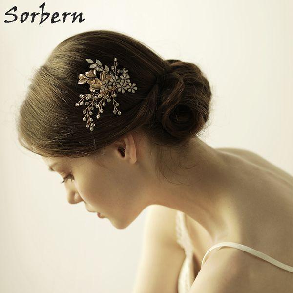 2018 New Wedding Hair Accessories Combs Crystals Flowers Bridal Headpiece Accessories Cute Handmade Hair Clips For Women Bridal Hair Combs