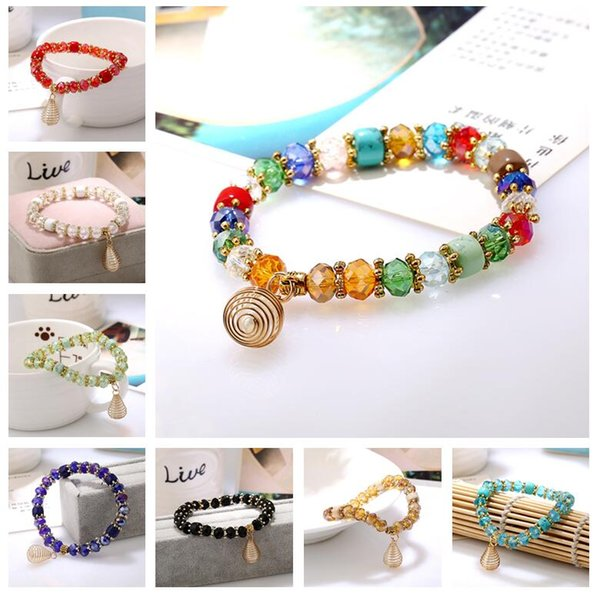Hot sale Natural crystal bracelet candy crystal beads hand string crystal jewelry FB541 mix order 20 pieces a lot Link, Chain
