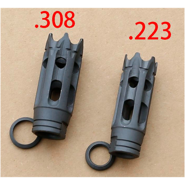 F&N Tactical .223  .308 TPI Carbon Steel Muzzle Brake for 1 2-28 5 8-24 Thread w Free Crush Washer