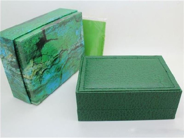 2019 New Green Watch green Box Papers Purse Gift Boxes for rol watch box free shipping