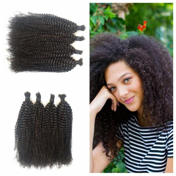 4a 4b 4c kinky curly hair bulk natural mongolian human braiding hair for black women 4-28inch G-EASY