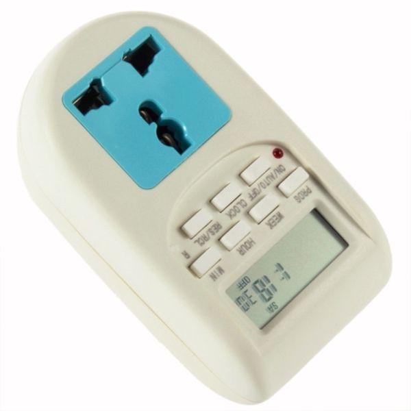 Digital Energy Saving Timer Programmable Electronic Timer Plug EU display useful