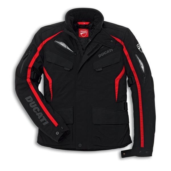 top popular Ducati fabric jacket Tour 14 Rev'it black motorcycle jacket 2019