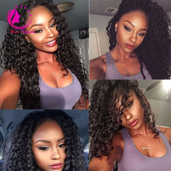 7A Malaysian Virgin Hair Glueless Full Lace Human Hair Wig Kinky Curl Virgin Hair Lace Front Wigs Kinky Curly For Black Women