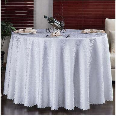 top popular Wholesale European Style Wedding Table Cloth Round Table Cover Banquet Dining Room Formal Occasions Home Table Cloth Decoration 2020