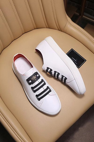 Classic New Mens Genuine Leather Flat Heels Casual Sneaker Made in Italian Low Cut Shoes Buckle Strap Size 38-44