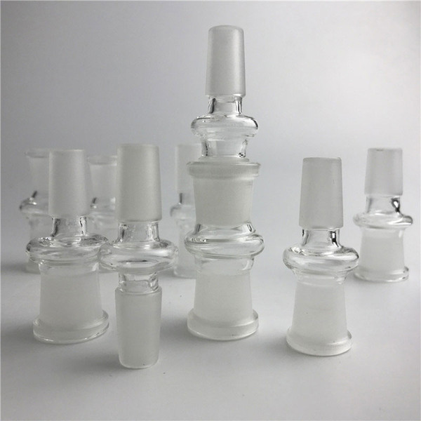 New Glass Adapter Fit Oil Rigs Glass Bong Adapter 14mm Male to 18mm Female Bong Adapters Glass Adapters Free Shipping