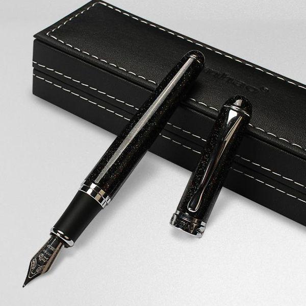 JINHAO X750 stylo plume noir sable chatoyant moyen signe de nib stylos fournitures de bureau cadeau de tenue de fête