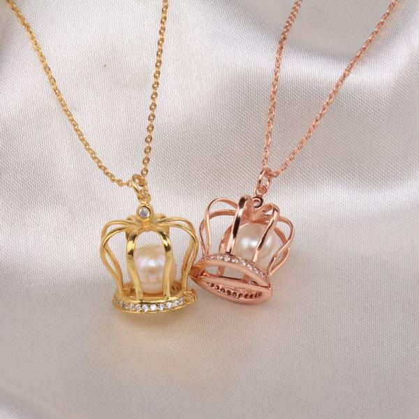 Wholesale luxury jewelry goldrose gold 925 sterling silver natural luxury jewelry goldrose gold 925 sterling silver natural pearl cage pendant wholesale aaa cz aloadofball Gallery