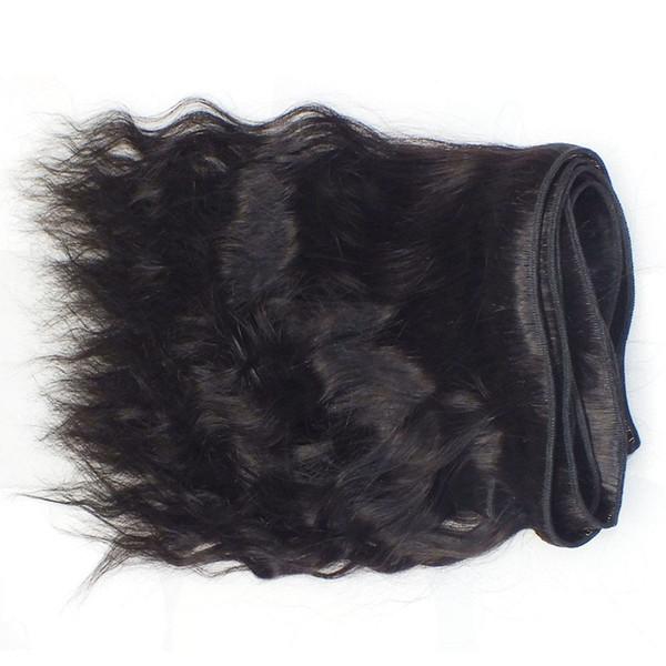 Grade 7A!!! 100% Human Hair Weave Natural Wave Hair Double Weft No Shedding No Tangle Durable 3 pcs / lot dhl free