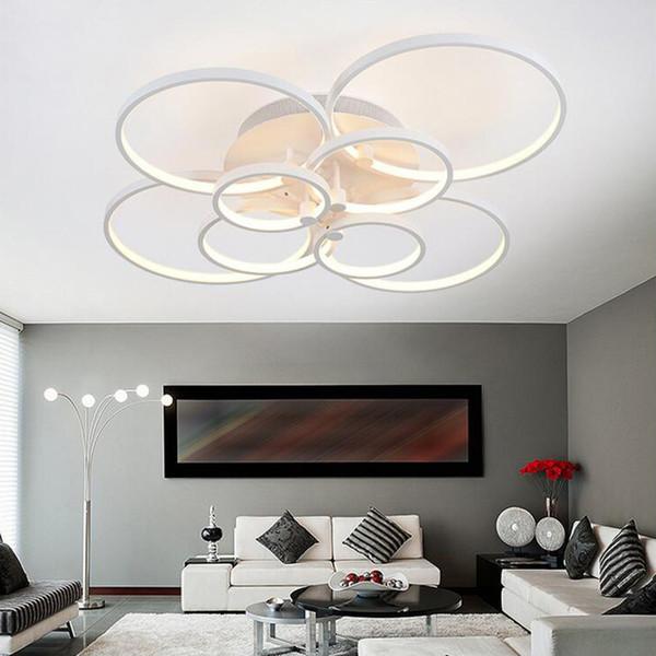 Großhandel Moderne Super Dünne Circel Ringe LED Deckenleuchter Lampe  Wohnzimmer Schlafzimmer LED Beleuchtung Kronleuchter Lichter Leuchten Von  ...