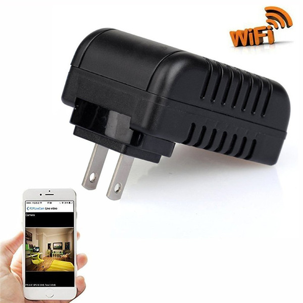 1080P Wifi Adapter Camera Motion Activated AC Power Adapter DVR USB Wall Charger DVs Night Vision Camera Nanny Cam Home Security Camera