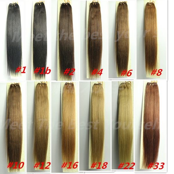"top popular ZZHAIR 16""-32"" 100% Brazilian Human Hair Remy Hair weft weaving 100g pcs Double Weft silky soft all colors stock 2021"