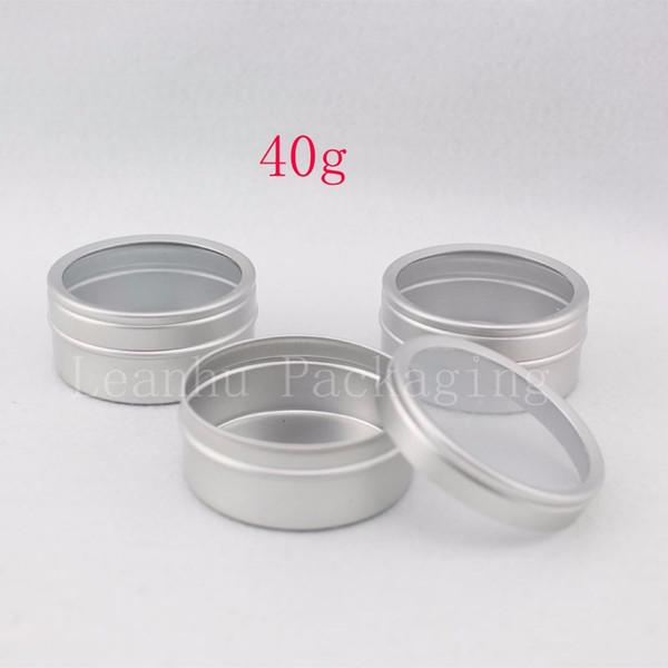 New 40g X 50 empty aluminum cream container ,skin care cream metal Cans balm Cosmetics Jar Round Aluminum Butter bottle,tin pot