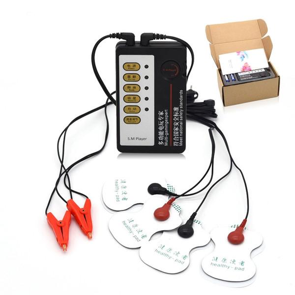 Kit di shock elettrico Morsetti per capezzoli potenti Clitoride ClipMassager Pad Giochi a tema medici per adulti BDSM Sex Toys Donna I9-1-114