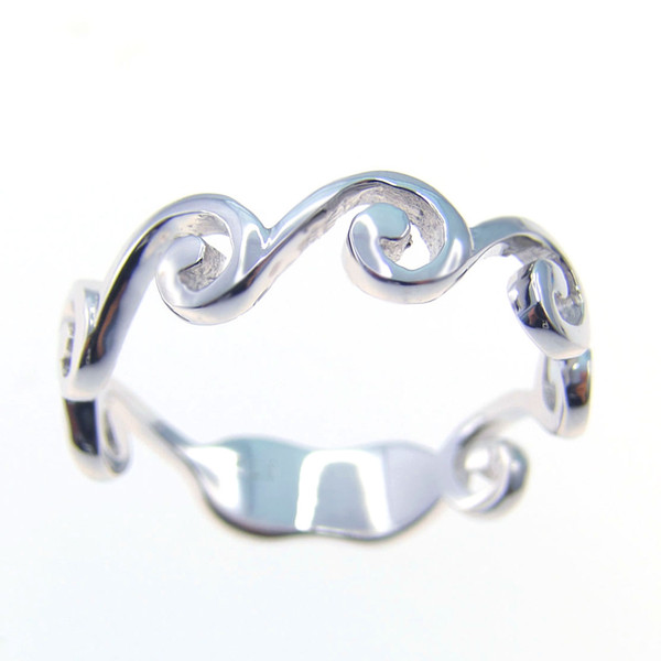 Fashion jewelry Simple Band ring 925 Sterling Silver betrothal presents Rhodium plating DR039684R Free Shipping
